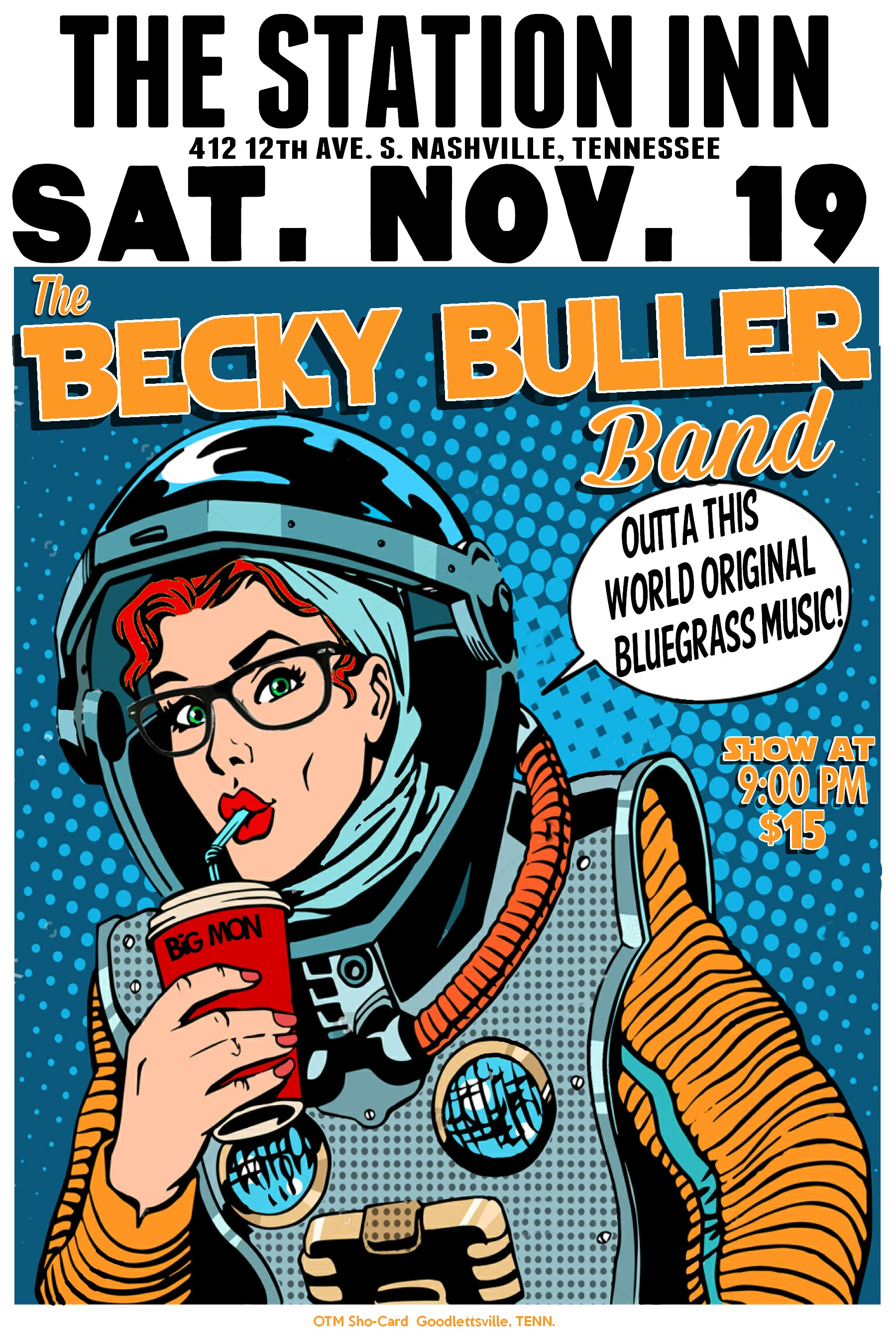 Limited Edition Signed Becky Buller Band Station Inn Poster