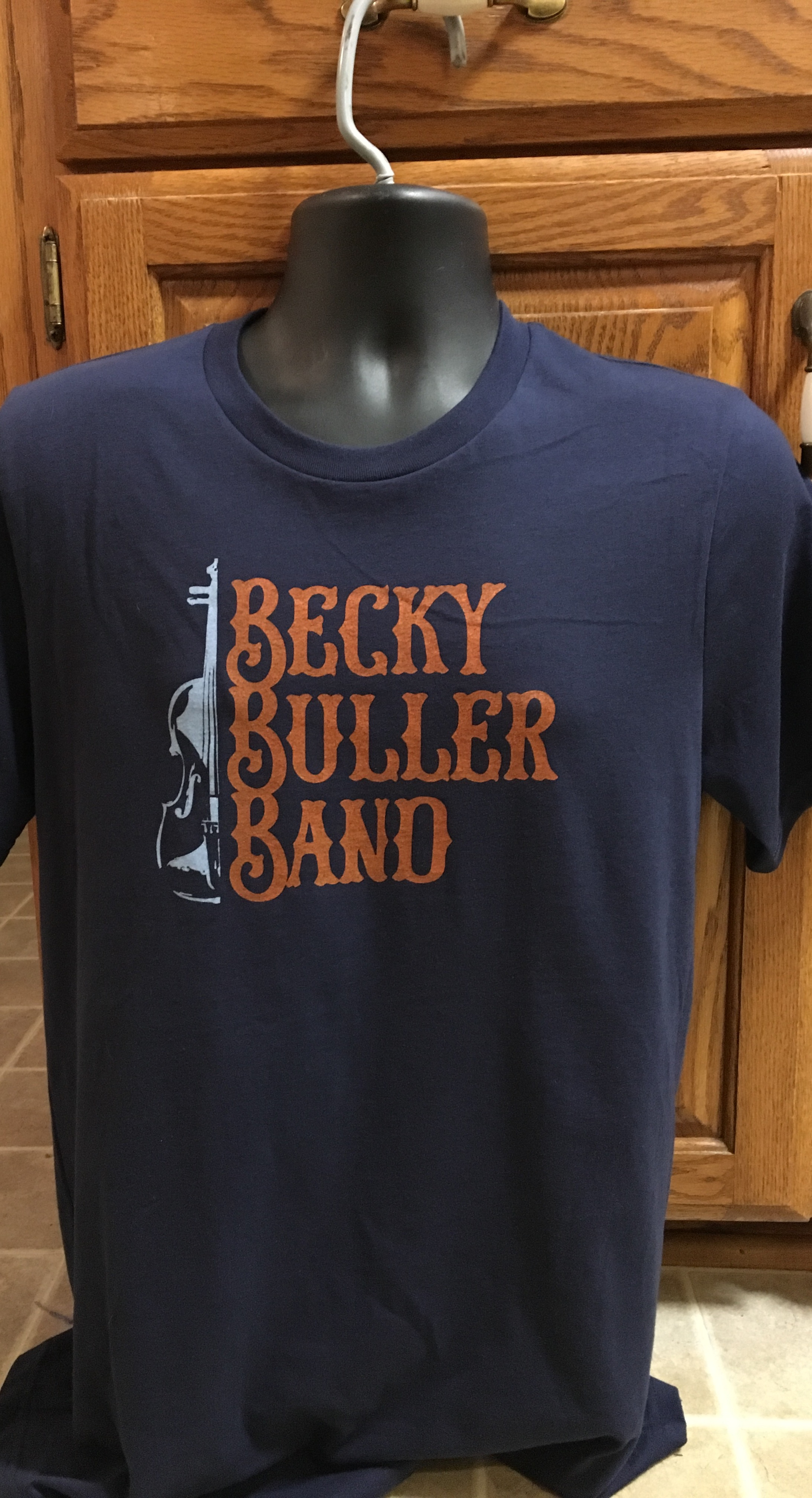 Becky Buller Band Navy Logo T-shirt